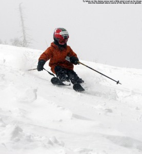 Image of Ty skiing at Stowe Mountain Resort in Vermont