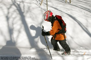 Image of Ty skinning on the Bryant Trail