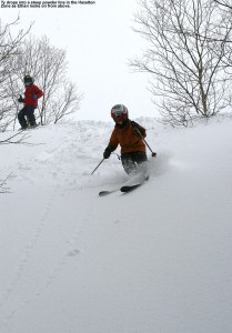 Ty dropping into the powder in the Hazelton area