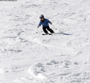 Dylan skiing on West Slope at Stowe