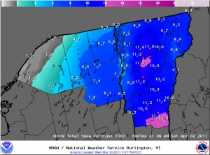 BTV NWS Accumulations Map