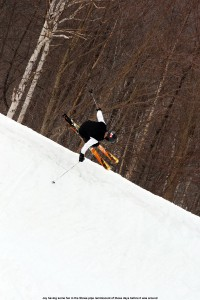 Image of skiing the half pipe at Stowe