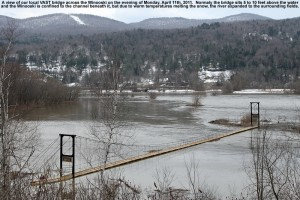 Image of high water on the Winooski