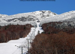 Picture of the gondola slopes of Mt. Mansfield