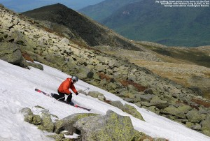 Image of Jay skiing on the East Snowfield
