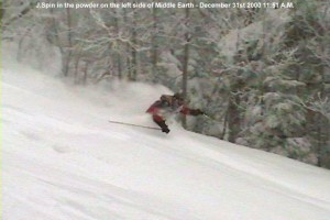 Image of Jay skiing deep pow at Castlerock