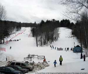 Image of the trails at Cochran's ski area
