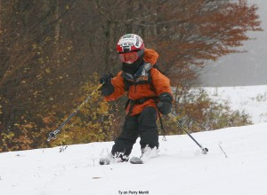 Image of Ty skiing
