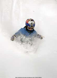 Image of Dylan skiing powder