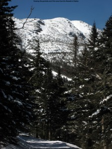 Image of the Chin of Mt. Mansfield and the Stowe gondola