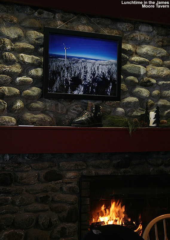 An image from inside the James Moore Tavern at Bolton Valley Ski Resort in Vermont