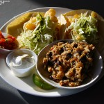An image of the fish tacos available in the Great Room Grill at Stowe Mountain Ski Resort in Vermont