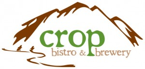 The logo for the Crop Bistro & Brewery in Stowe, Vermont