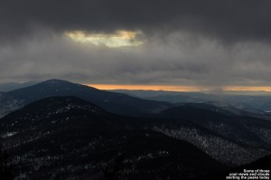 An image of interesting clouds from Mt. Mansfield and Stowe Mountain Ski Resort in Vermont