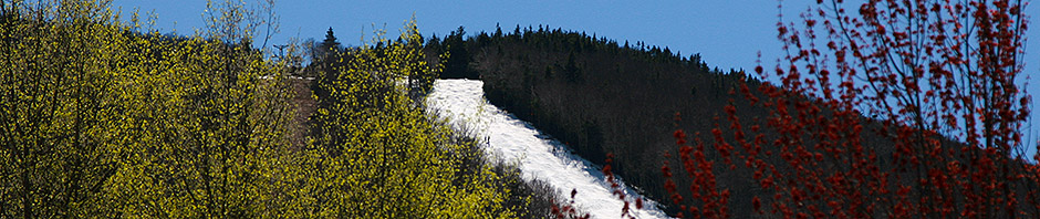 An image of Stein's Run in May at Sugarbush Ski Resort in Vermont