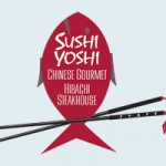 An image of the logo for the Sushi Yoshi Asian restaurant in Stowe, Vermont