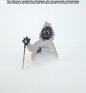 An image of the Vista Beast at the base of Bolton Valley Ski Resort in Vermont