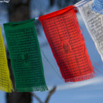 An image of prayer flags at the top of the Prayer Flag trail in the backcountry network at Bolton Valley Ski Resort in Vermont