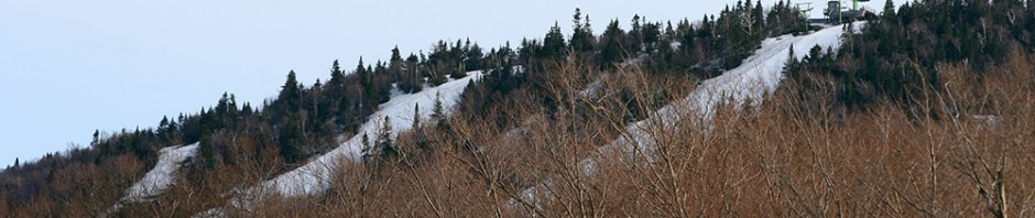 An image of the Stateside trails as viewed from the tram area at Jay Peak Ski Resort in Vermont