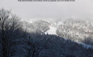 An image of the some of the trails in the Gondola area at Stowe Mountain Resort in Vermont