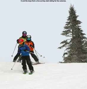 An image of skiers on the Cobrass trail at Bolton Valley Resort in Vermont