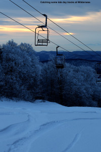 An image of the Wilderness Chairlift at Bolton Valley Resort in Vermont