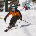 An image of Ty skiing the Gondolier trail at Stowe Mountain Resort in Vermont