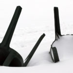 An image of some toppled chairs with snow at the Timberline Base Area at Bolton Valley Ski Resort in Vermont
