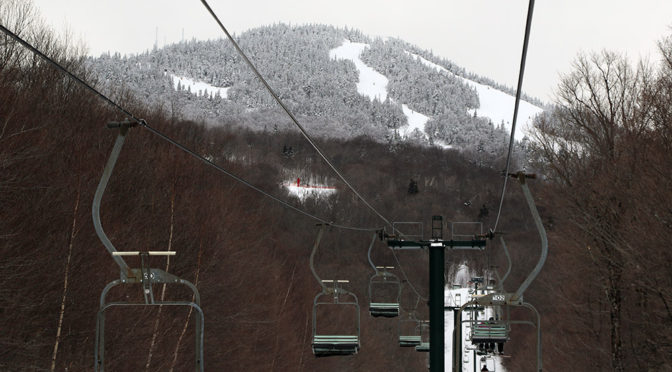 An image of some of the trails at Stowe Mountain Resort in Vermont from the Toll House double chair