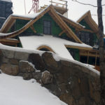 An image of a house being constructed along Route 108 near Stowe Mountain Resort in Vermont