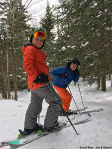 An image of Joe and Gianni out on the Bruce Trail near Stowe Mountain Ski Resort in Vermont