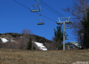An image of the slopes of Whiteface Mountain in New York in late April