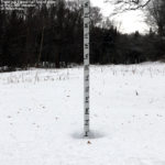 An image of the snow depth at 2,500' elevation at Bolton Valley