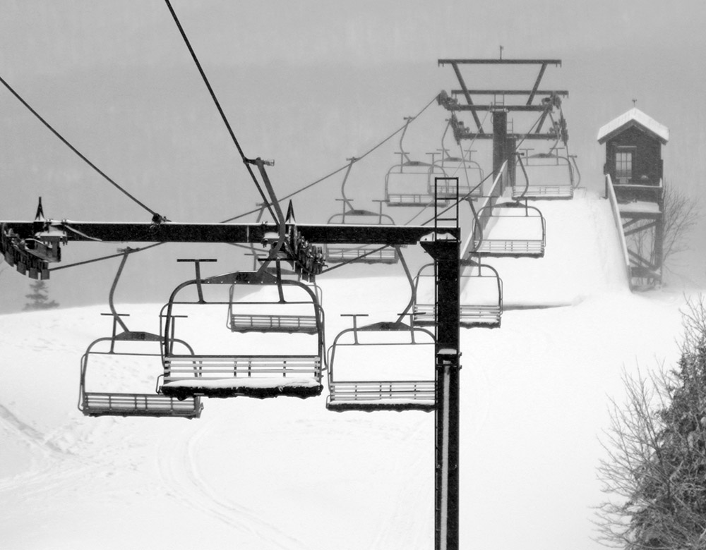 an image of the Timberline Lift at Bolton Valley Ski Resort in Vermont