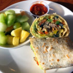 An image of a breakfast burrito from the Great Room Grill at Stowe Mountain Resort in Vermont