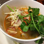 An image of Shrimp Pho from the Great Room Grill at Stowe Mountain Ski Resort in Vermont