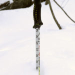 An image showing the depth of the new powder for skiing at Brandon Gap in Vermont