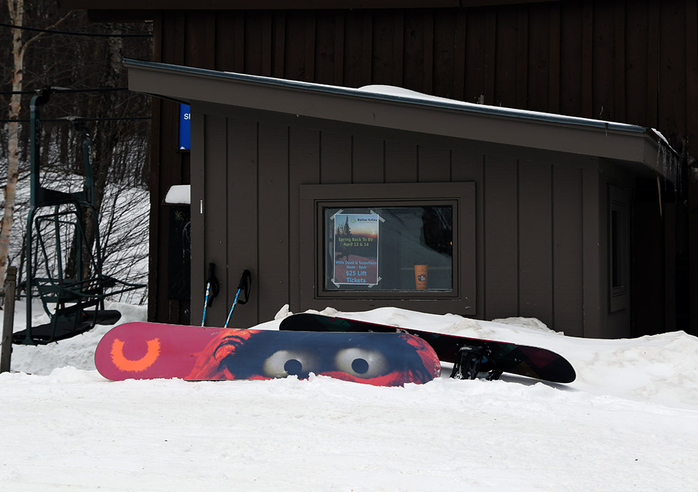 An image from the base of the Snowflake Chair at Bolton Valley Resort in Vermont
