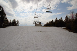 An image of the mid station area on the Timberline lift at Bolton Valley Ski Resort in Vermont