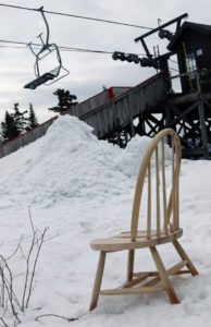 A spring image from the mid station of the Timberline Quad Chair at Bolton Valley Resort in Vermont