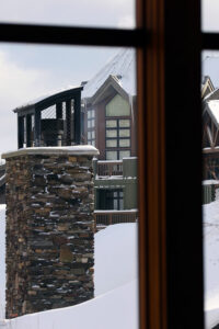 An image from the Spruce Peak Village at Stowe Mountain Resort in Vermont