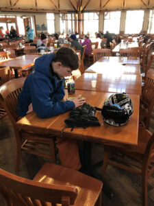 An image of Ty at the Great Room Grill in the Spruce Camp Base Lodge at Stowe Mountain Resort in Vermont